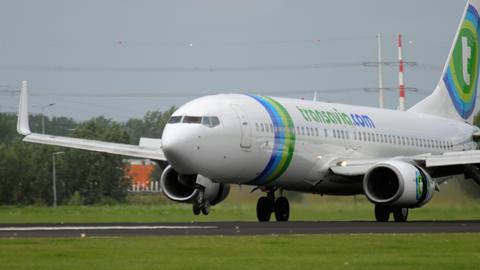 Transavia Boeing 737 landing Footage