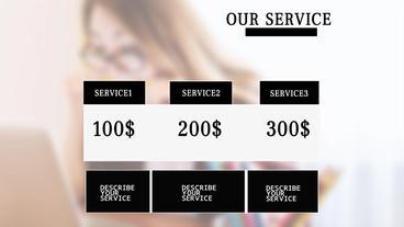 Simple and elegant business servis presentation 애프터 이펙트 템플릿
