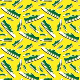 green sneakers of different sizes ベクター