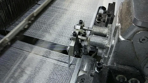 Textile Industry. Industrial Loom GIF