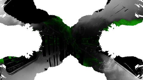 Acid Green Kaleido and Tram Mix Footage