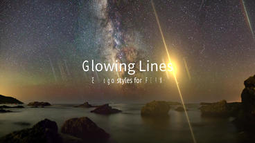 Glowing Lines Apple Motion Template
