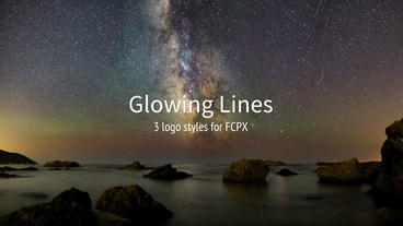 Glowing Lines Plantilla de Apple Motion