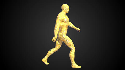 Animation of walking man. Loopable animation. 4k Animation