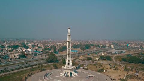 Panorama of Minar e Pakistan, Lahore Footage