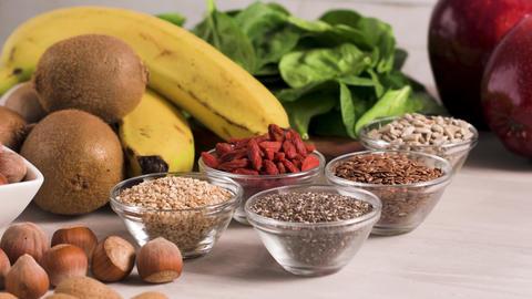 Healthy vegan food Footage