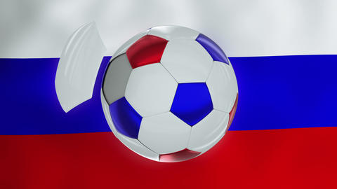 Moving soccer ball on three colored background 영상물