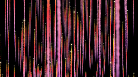 Particles Rising With Trails Red GIF