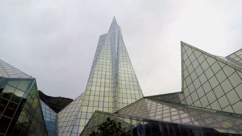 Big Glass Building in the Shape of Pyramid Image