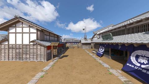 日本の江戸時代の風景 CG動画素材