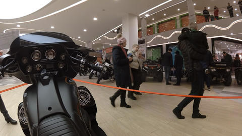 Lipetsk, Russian Federation - Jan 13, 2018: Exhibition of Old vintage ビデオ