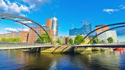 Speicherstadt district in Hamburg city, Germany (Time Lapse) Footage