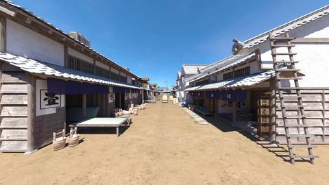 日本の江戸時代の風景 CG動画