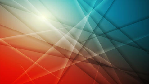 Bright orange and blue abstract stripes video animation Animation