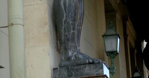 A huge stone sculpture atlas Footage