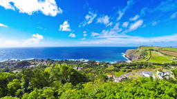 Picturesque view of Sao Miguel island, Azores, Portugal Footage