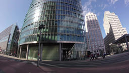 Time Lapse: Traffic And Tourists At Potsdamer Platz In Berlin, Germany Footage