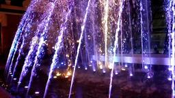 Dancing water fountain show in Kyiv, Ukraine Footage