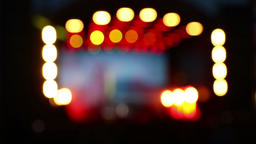 Blurred bokeh background of concert lighting on stage Footage