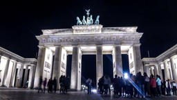 Brandenburg Gate in Berlin, Germany Footage