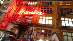 Gallery of historical neon signs in Wroclaw, Poland Footage