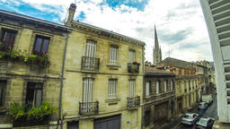 Saint Michel district in Bordeaux city, France. Time Lapse Footage
