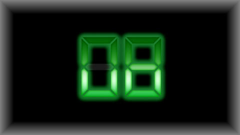Electronic Timer Display Countdown Animación