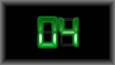 Electronic Timer Display Countdown Stock Video Footage