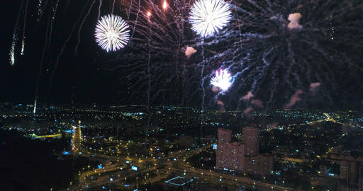 Shooting fireworks from a great height Image