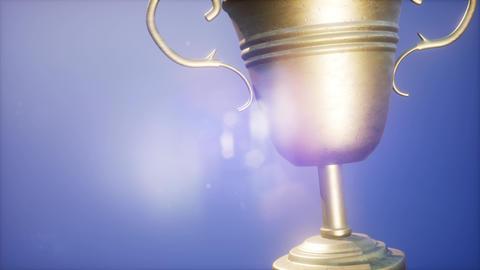 4K Super slow motion Champion trophy cup ビデオ
