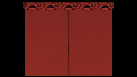 Closing Curtain Transition Stock Video Footage