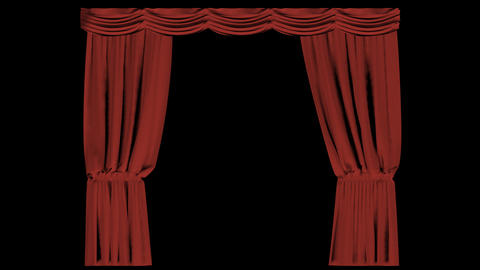 Closing Curtain Transition Animation
