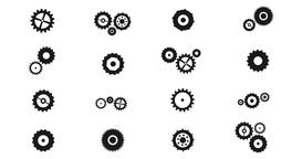 Cogs And Gears Spinning Icons With Alpha Channel 애니메이션