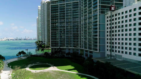 Aerial View Downtown Financial District Miami Image