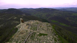 Aerial View of the ancient Thracian city of Perperikon, 6000 BC, Bulgaria Footage