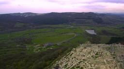 Aerial View of the ancient Thracian city of Perperikon, 6000 BC, Bulgaria 영상물