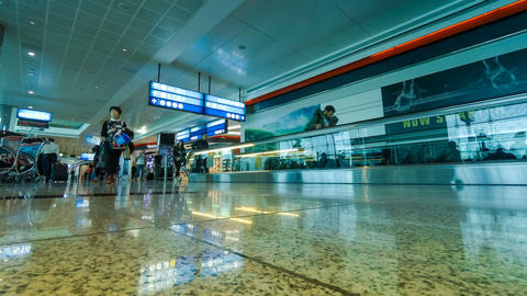 Airport international terminal timelapse Footage