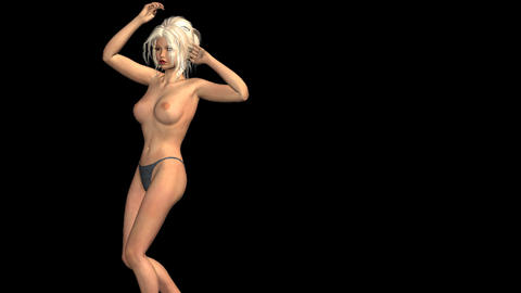 NR304 Topless Dancer CG動画素材
