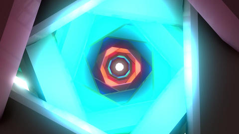 VJ glow tunnel 001 CG動画素材