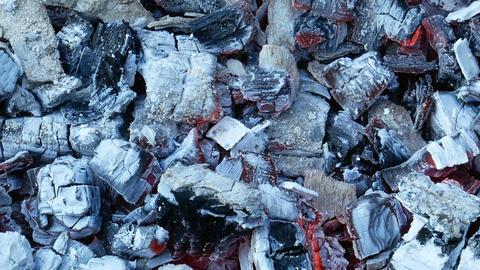 Hot burnt charcoals Archivo