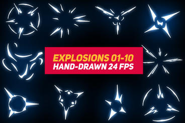 Liquid Elements 2 Explosions 01-10 After Effects Template