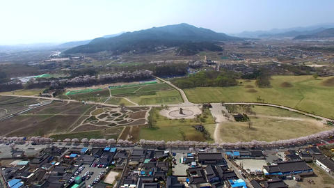 Spring of CheomSeongdae at Gyeongju 04 Footage