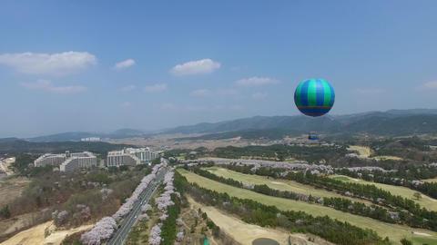 Hot Air Ballon at Bomun Park at Gyeongju 01 Footage