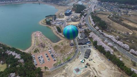 Hot Air Ballon at Bomun Park at Gyeongju 05 Footage