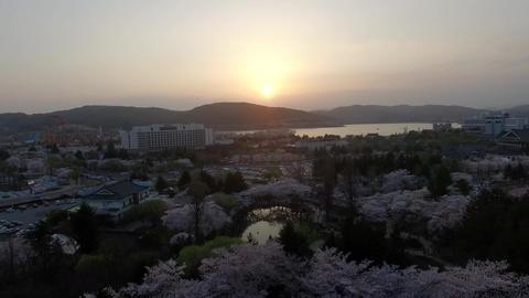 Bomun Pond of Bomun Park at Gyeongju 12 Footage