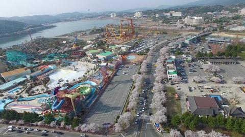 Spring of Bomun Park at Gyeongju 06 Footage