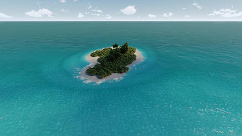 Lonely tropical island and sea ビデオ