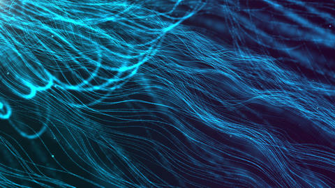 New design abstract digital particles wave flow and dots for motion background Animation