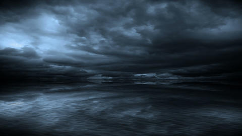 Lightning storm over the sea, Stock Animation