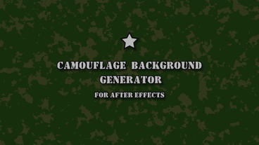 Сamouflage background generator After Effectsテンプレート